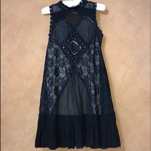 Free people sexy black lace , size s